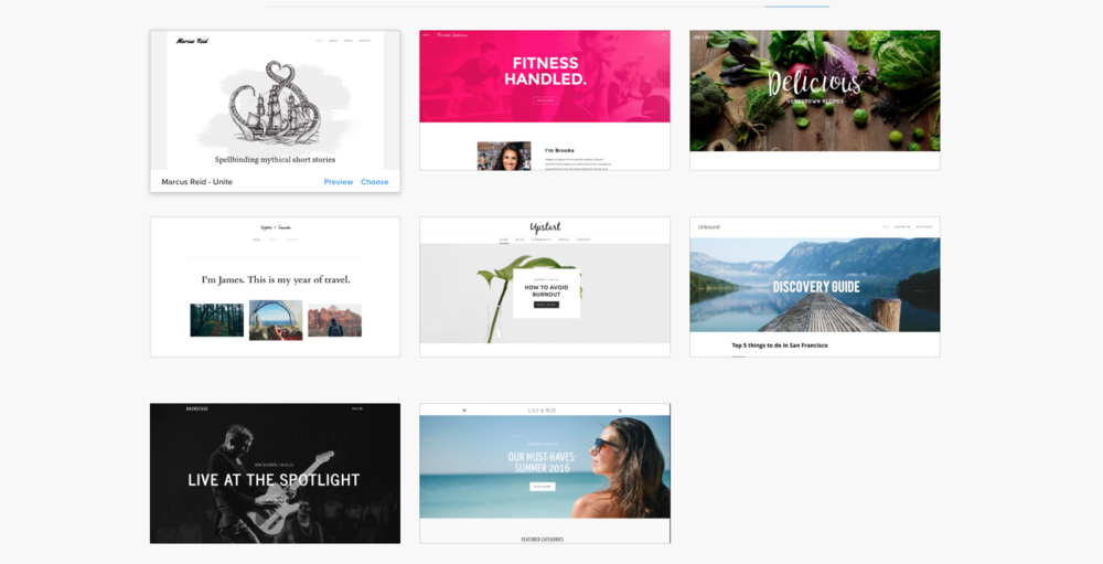 A few design options from Weebly
