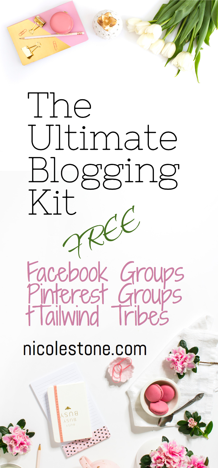 The ultimate blogging bundle. pinterest groups, facebook gorups, tailwind tribes, tools, tips and tricks to boost your blogging traffic! Click through to get it all for free!
