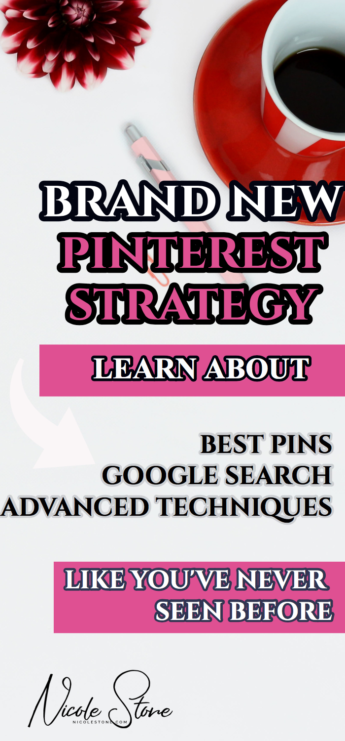 BRAND NEW PINTEREST STRATEGY. If you want your traffic to increase, you have to read this! Let's face it, Pinterest changed, and if we want blogging traffic from the platform, we have to change as well. Leanr about Pinterest traffic here.