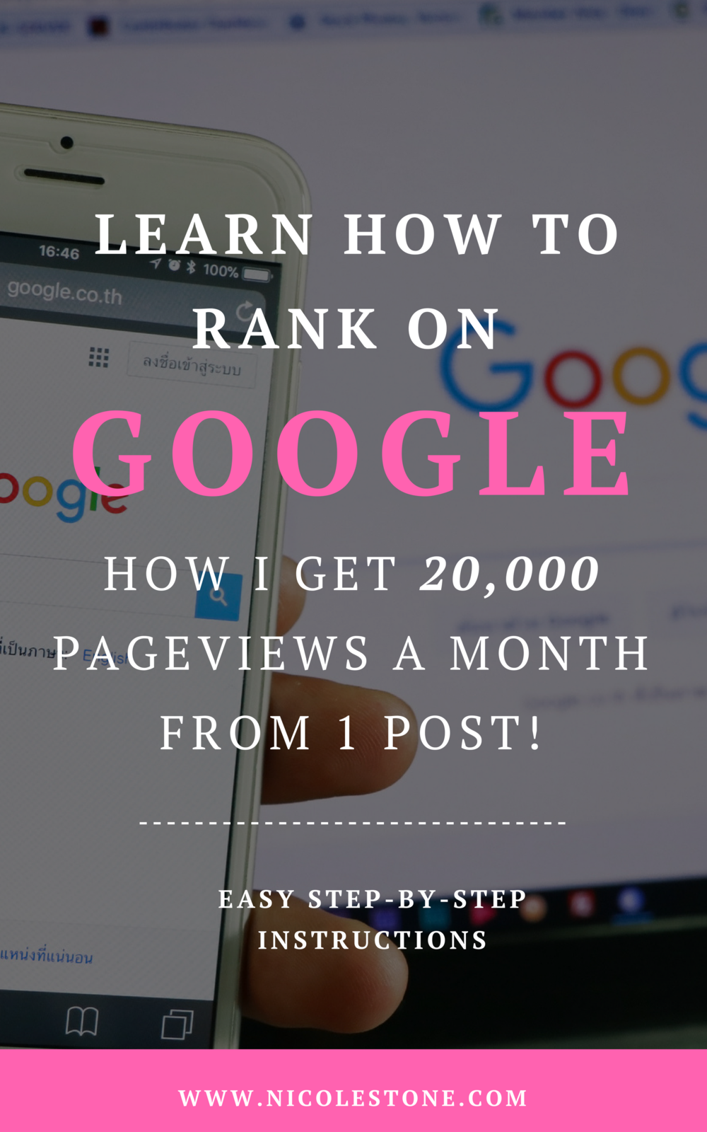 How I gain nearly 20,000 page views a month from one blog post on Google. The exact, easy to follow strategy that will work for you too! #marketing #blogging #bloggingtips