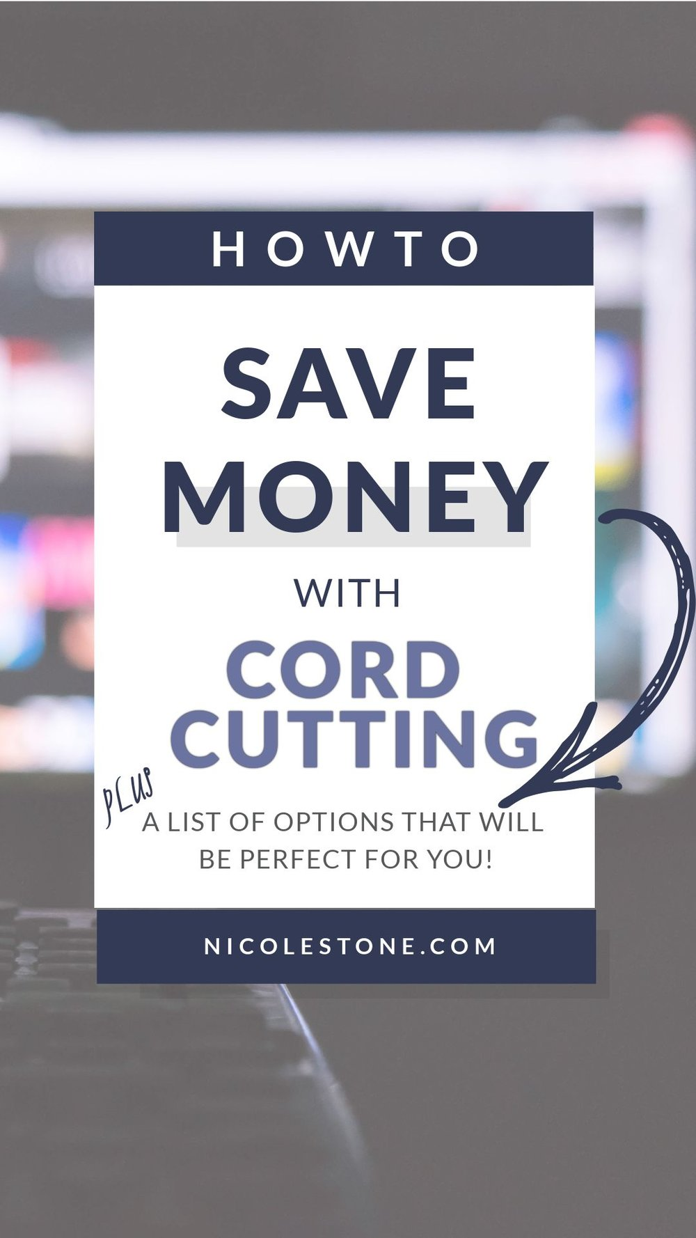 How I saved TONS of money by cutting the cord. This is the complete list of services that will help you keep your TV while saving you money and hassles. Click through to learn how to save! #savemoney #save #finances #cordcutting #hometips