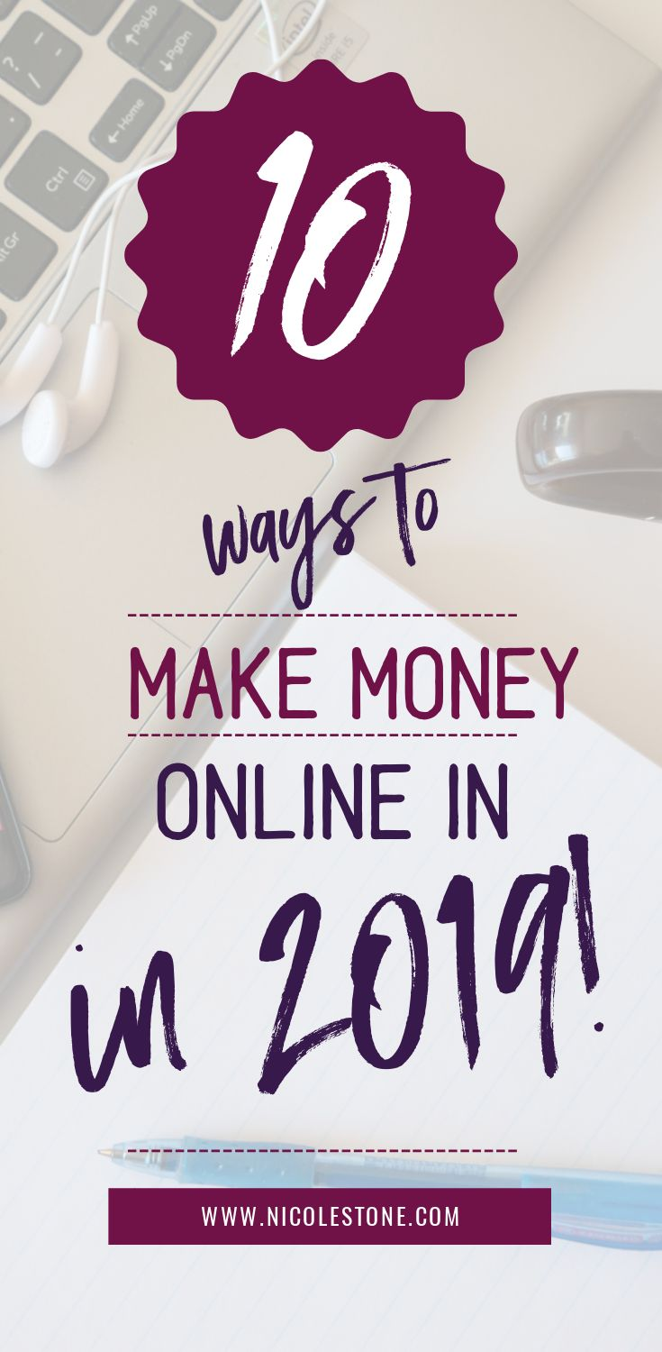 10 ways to make REAL money online in 2019. Making money online has never been easier than it is now. With more companies focusing on remote opportunities, the freelance market growing, and unlimited resources teaching you how to profit from the internet... 2019 is your time to breakout in the online world. #makemoney #profit #income #finance #workfromhome