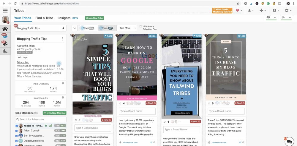 Tailwind Tribes can help you with your Pinterest success.