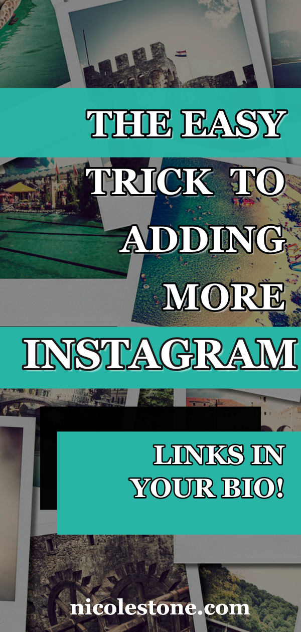 Add TONS of links in your Instagram bio with this easy Instagram hack. Gain more traffic from Instagram! #instagram #marketing #socialmedia #instagramtips