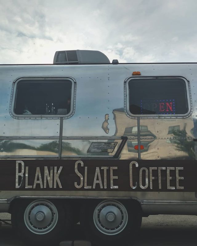 May you rise to meet the challenges of today.  If you need, coffee will carry you through. . . . . #blankslatecoffee  #airstream  #coffeeshop  #uniquelygahanna  #creeksidegahanna