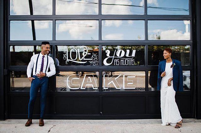 Have your cake and eat it too! 🎂 @rachelkapisak's handcrafted art on a garage door!? More lovely snaps from @harmonyinhappenstance...link in bio 🤗. #onGWS ... @bashologyevents   event design + installations @harmonyinhappenstance   photography @getplateddc   catering @cedarandlimeco   florist @studio52dc   venue @rachelkapisak   handcrafted menu and window art @smcquaidcalligraphy   calligraphy @dcreventrentals   rentals @memkoh   stylist + models @saltandsundry   decor @hellooo.gorgeous   make up