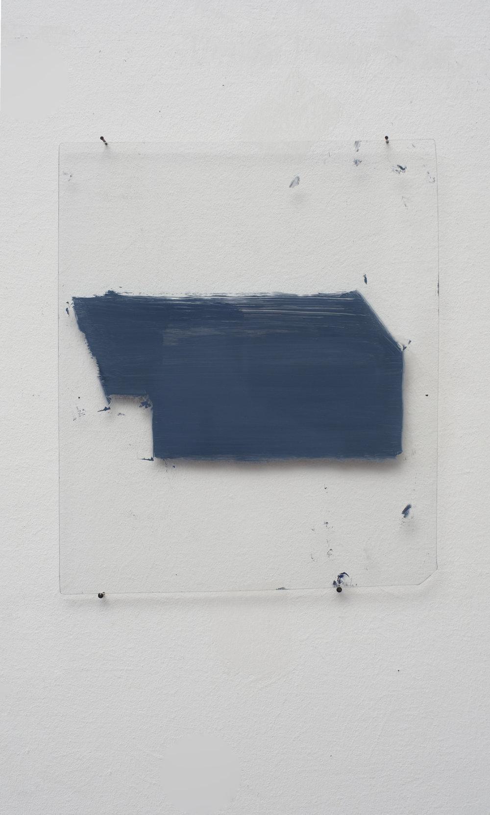 """""""Ist ein Fenster ein Loch ?"""",12.3.2015,  Reverse glass painting,"""
