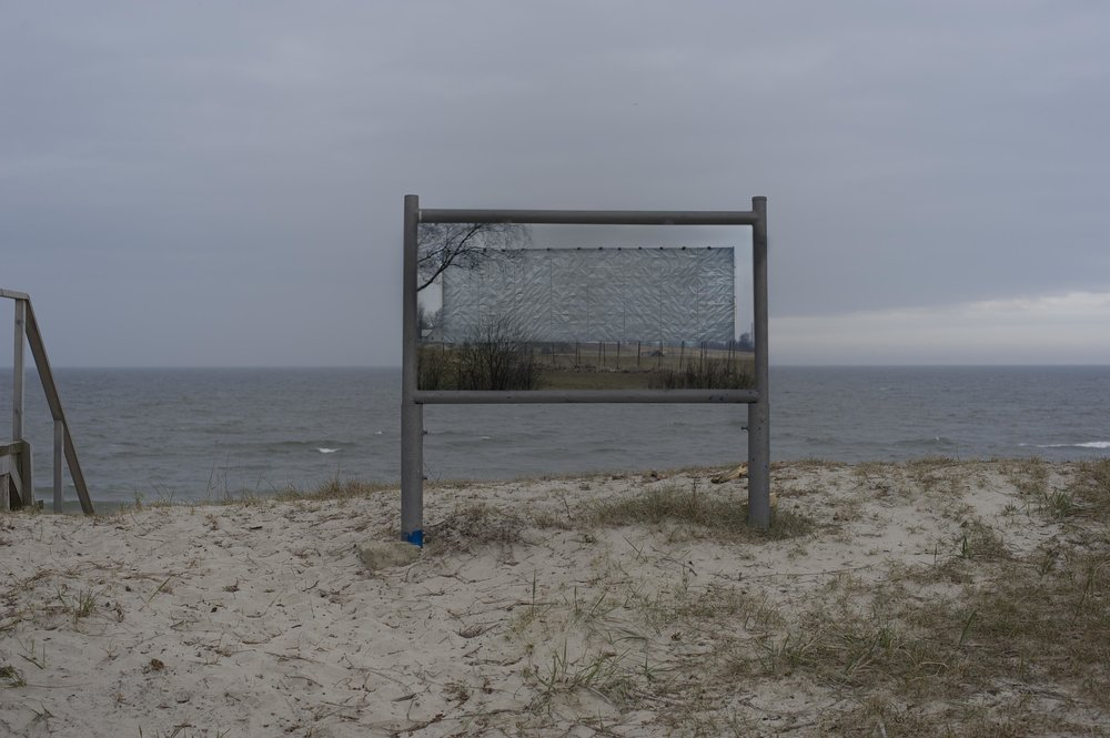 MAYBE TOMORROW, posters along the coast near Nida, Curonian Spit, Lithuania, 2017