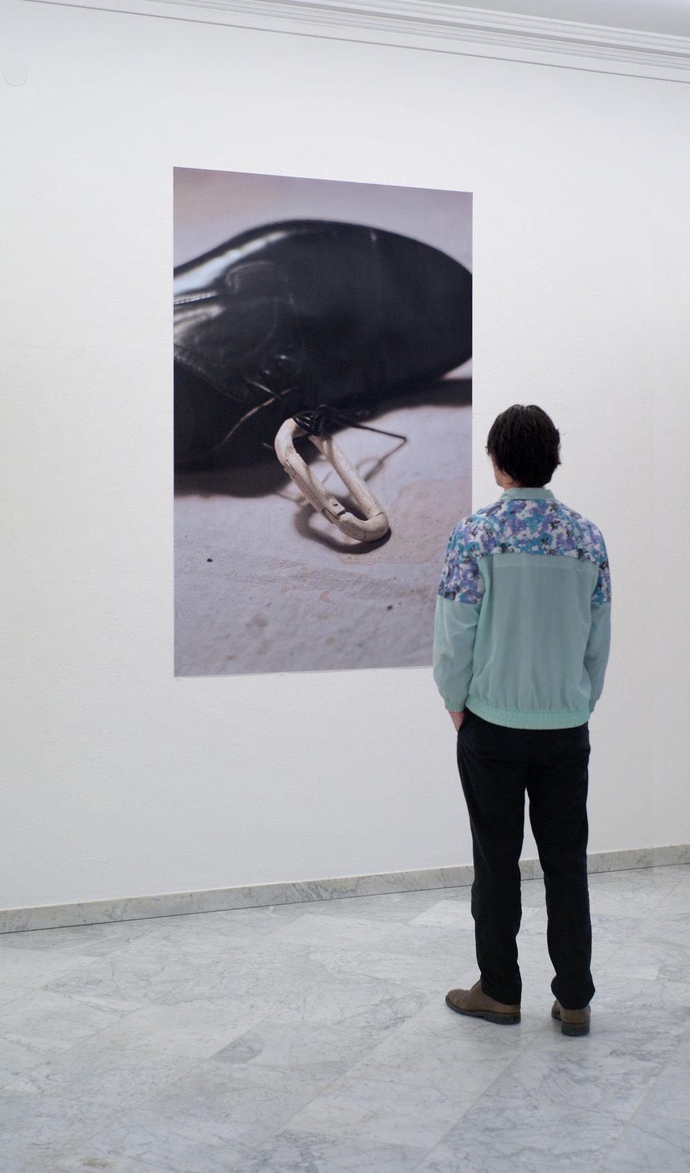 UNTITLED bishu, 2017, Lambdaprint, 190 x 125 cm, unique. Installationview Künstlerhaus Bregenz, 2017