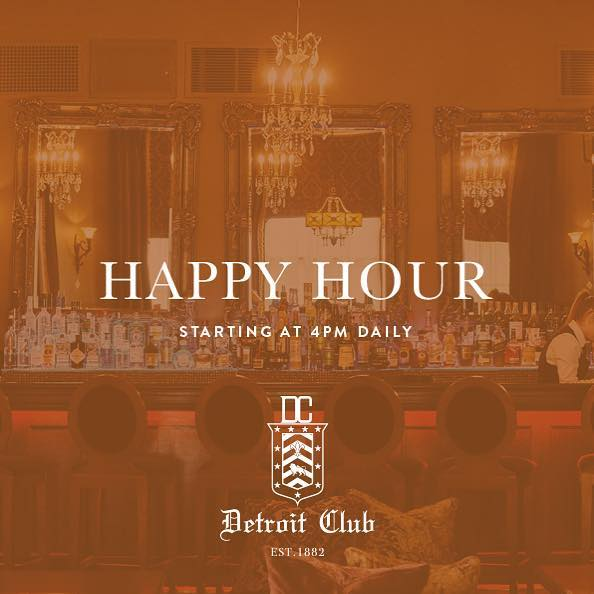 Starting tomorrow at 4PM at @thedetroitclub, @thelibrarydet & @urallicigarbardet. Visit thedetroitclub.com/our-menu to take a sneak peak!