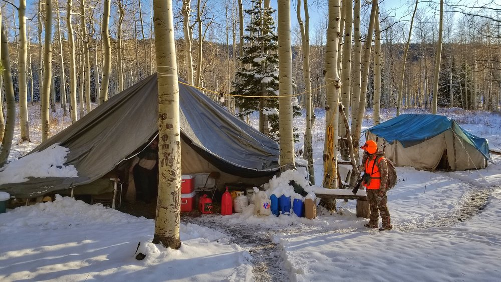 Our 2017 Ladies camp in Craig, CO. The second night, it snowed eight inches.
