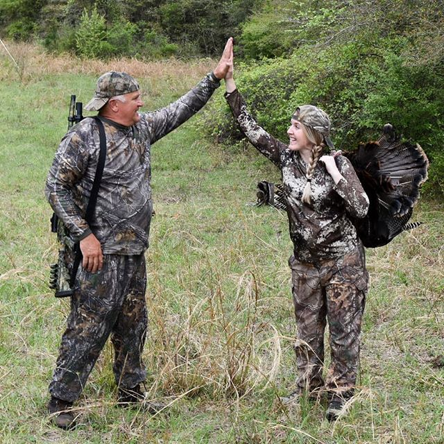 One of the best parts of a hunt is sharing the excitement of success. When it's with dad, it's even better 💙 #alwaysdaddysgirl