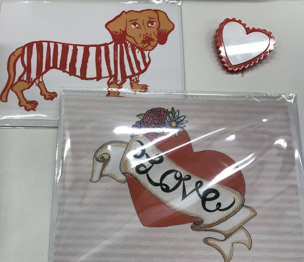 Our range of cards from independent artists is vast! Something for everyone, for any occasion! Also, we have a great selection of Little Pig Jewellery designs in our Gallery Shop.