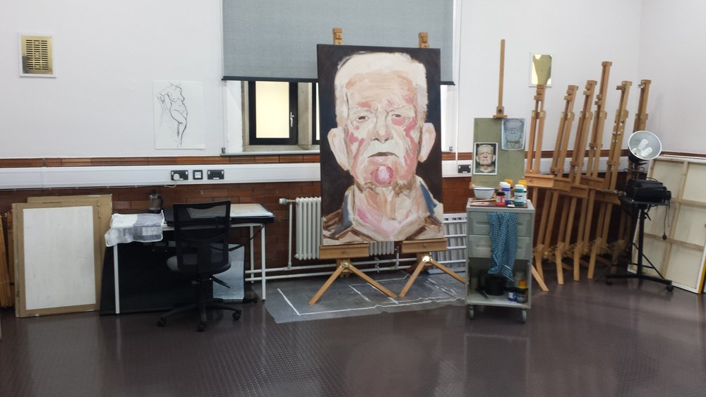 John King's Studio space within West Studios.
