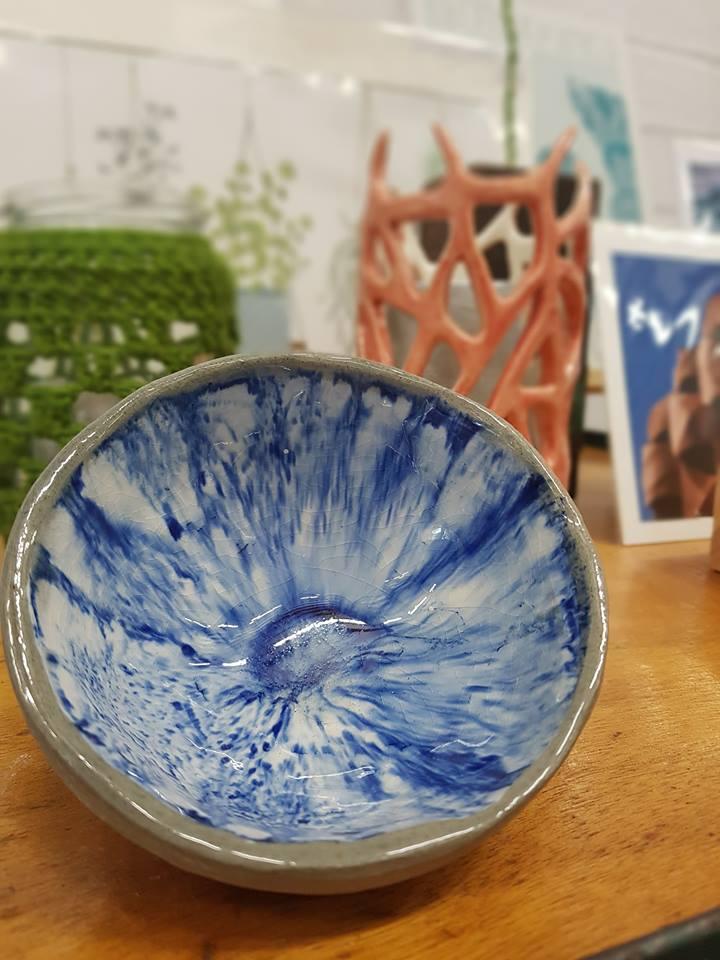 Glaze for summer days. Drawn & Fired Trinket Bowl £10