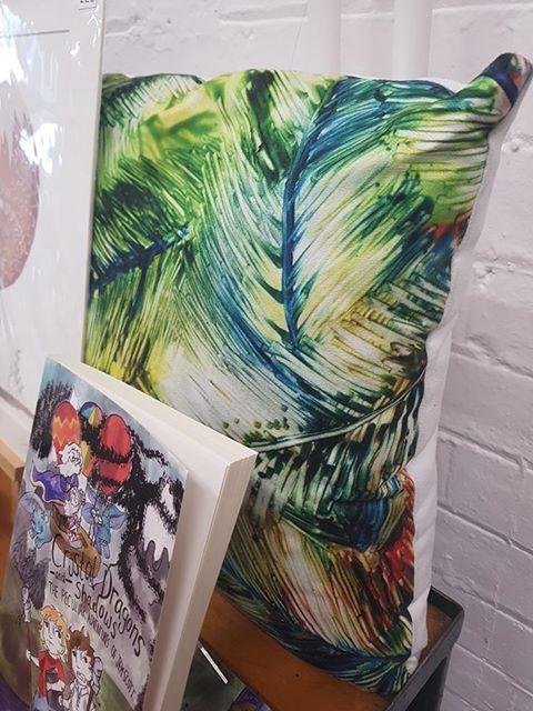 Art Print Cushion - Inuro - Reduced to £20.