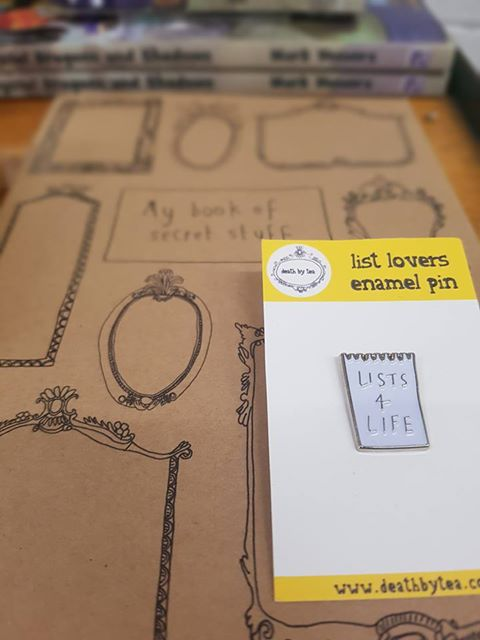 Note Book & Pin - Death by Tea - £4 & £6 respectively
