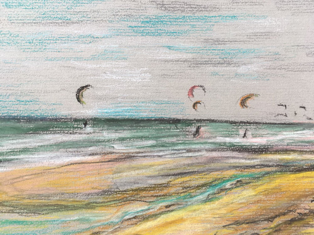 Kite Surfers, Hoek van Holland by Kate Caine