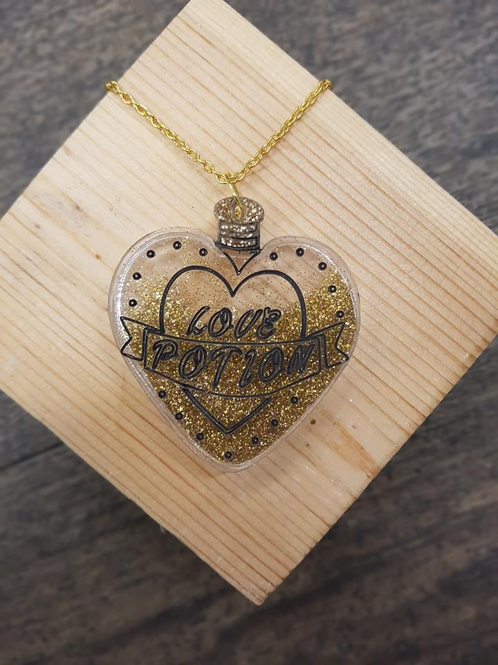 'Love Potion Necklace' by Beams and Bobbins £20