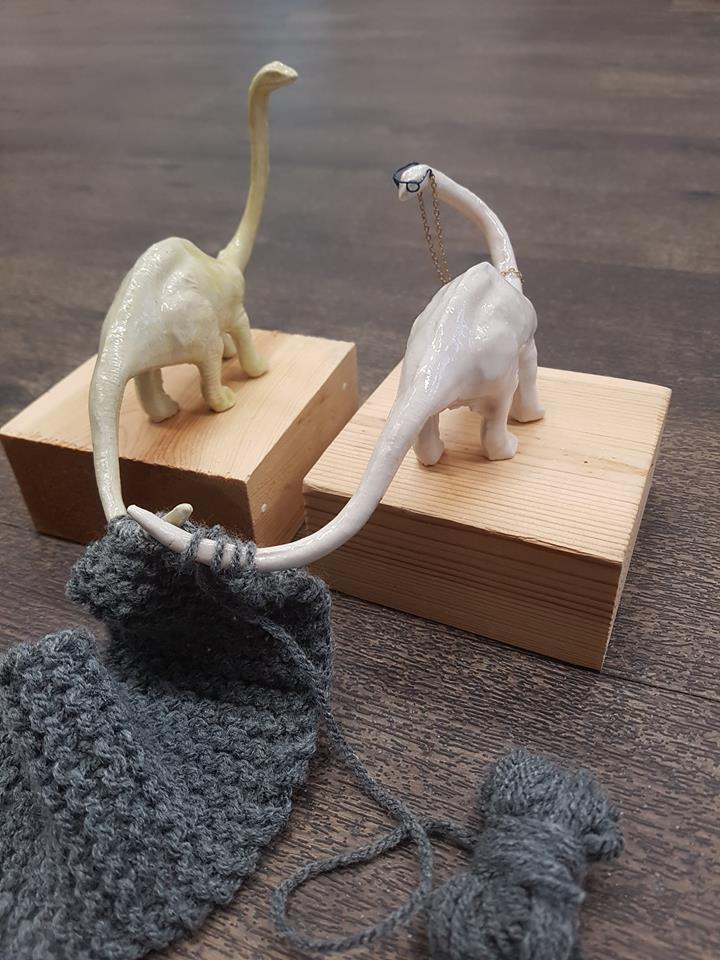 CUTE OVERLOAD  Knitting Dinosaurs by Beth Cartwright £35