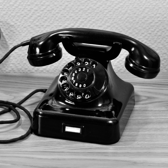 when Grandma was young, this was the most modern telephone available.