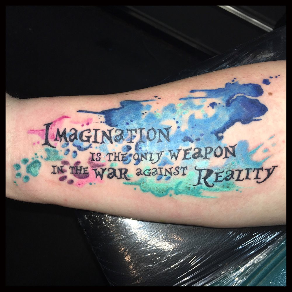 Watercolour Script Tattoo