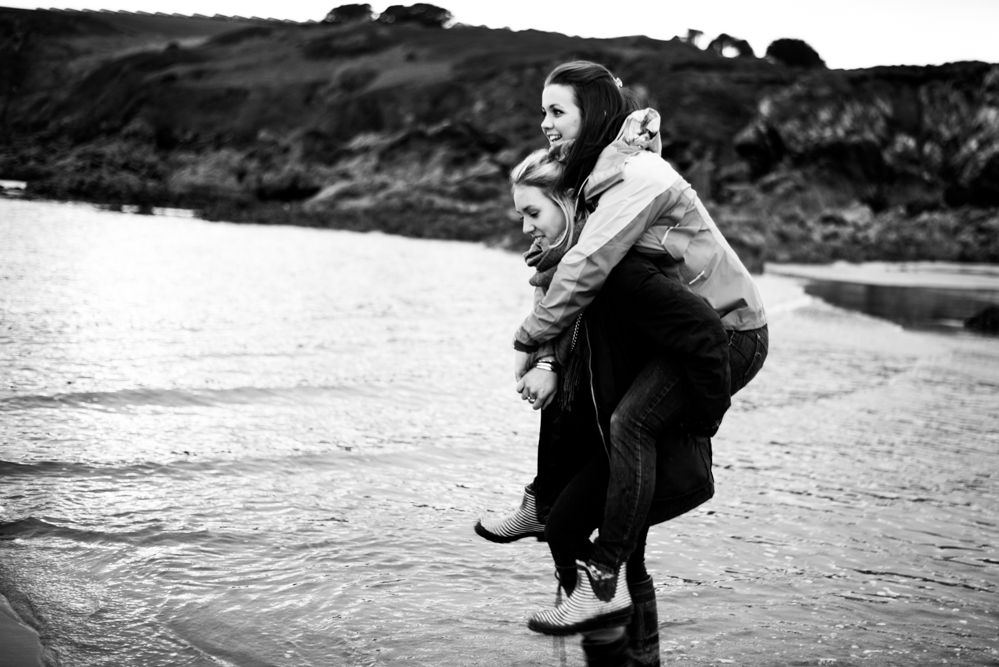 Piggy Back on Kennack Sands - Olivia Bossert Photography