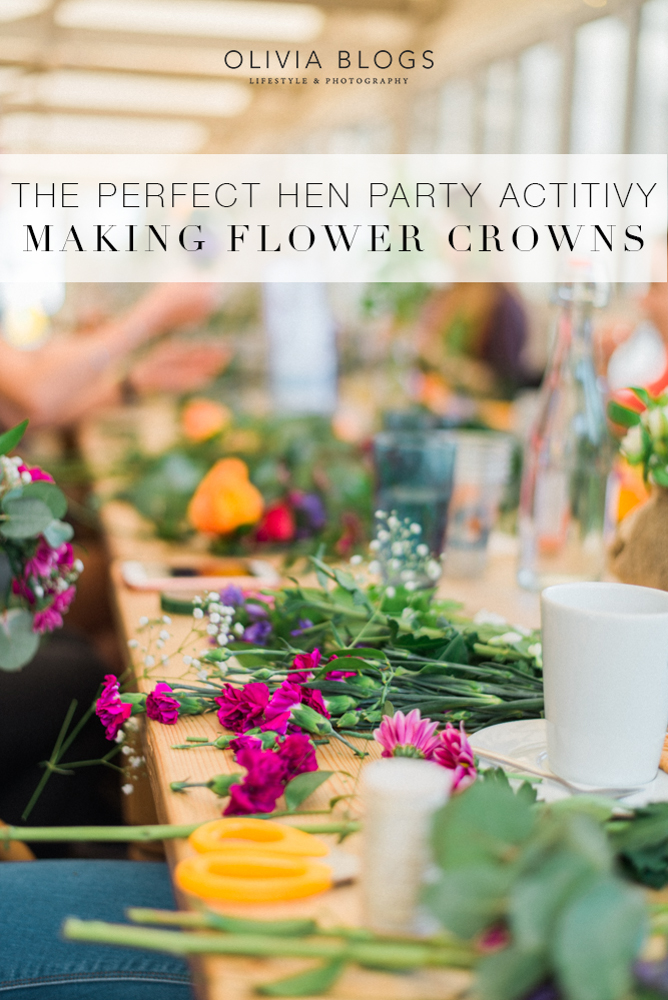 The Perfect Hen Party Activity | Making Flower Crowns! - oliviablogs.com