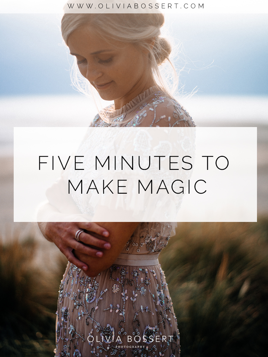Five Minutes To Make Magic  // Click To See The Whole Set of Images // www.oliviabossert.com // fashion photography, fashion photographer, UK fashion photographer, Cornwall photographer, sunset photoshoot