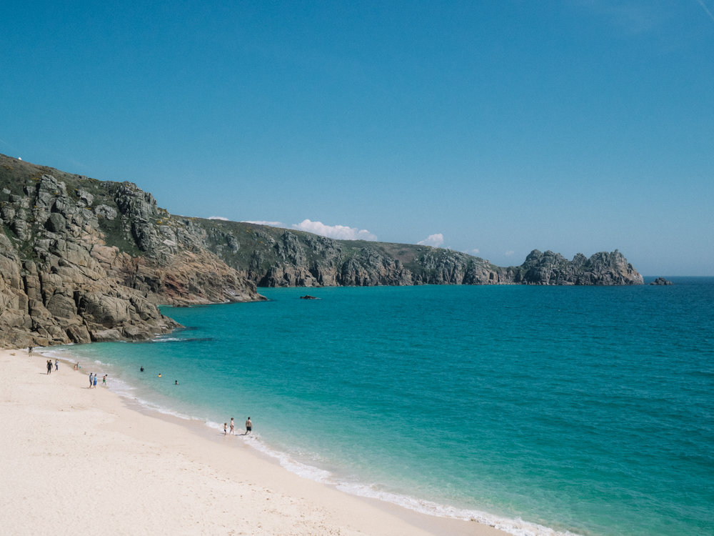 The Best Photoshoot Locations in Cornwall // Porthcurno // www.oliviabossert.com