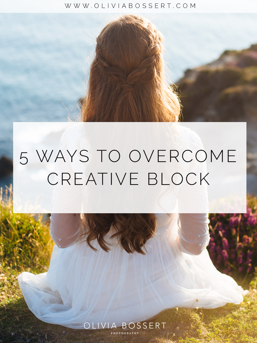 5 Ways To Overcome Creative Block // Click here to read the post in full! // www.oliviabossert.com // creativity, frustration, inspiration, cornwall photographer, sunset, fashion photography