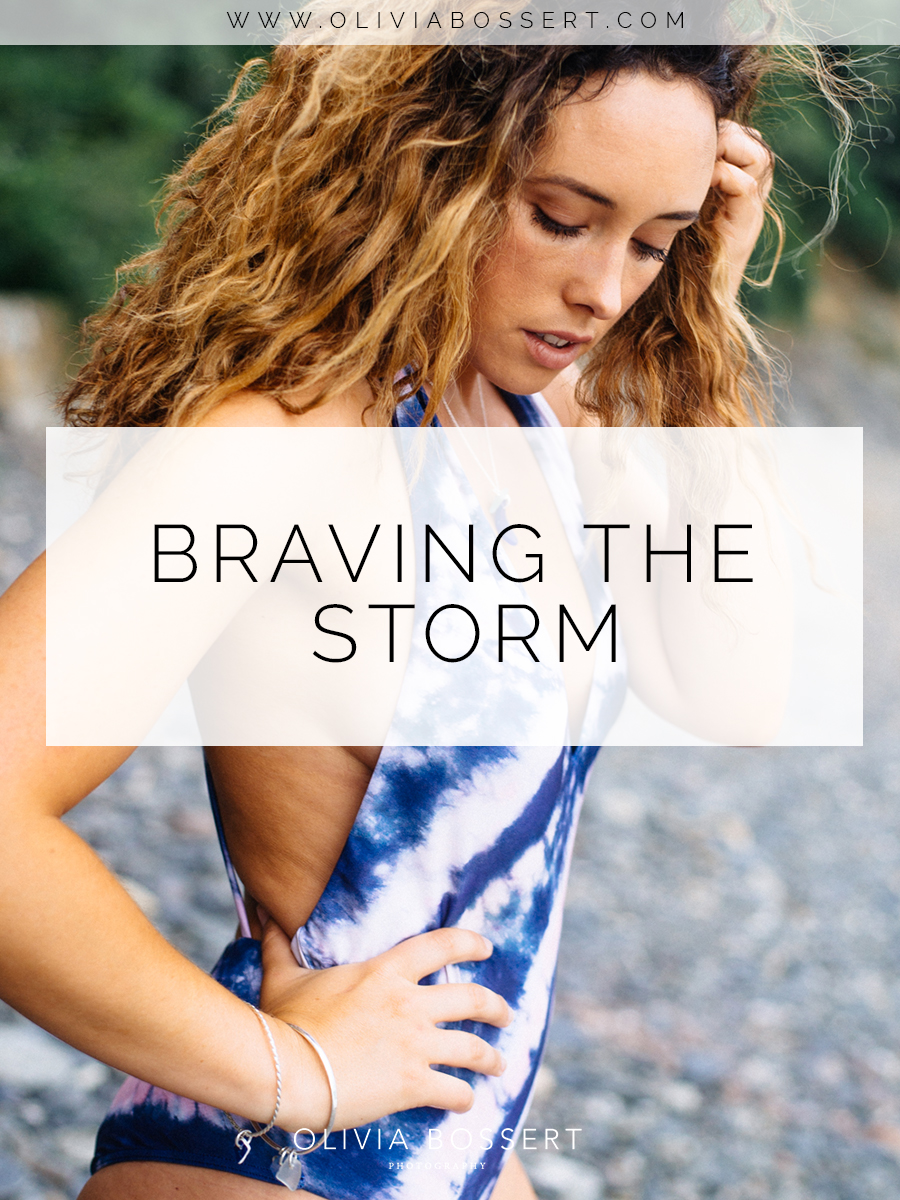Braving The Storm with Corinne Evans, Pro Surfer // Durgan, Cornwall, UK // www.oliviabossert.com // Cornwall photographer, fashion photography, swimwear photography, beach photoshoot, fashion shoot