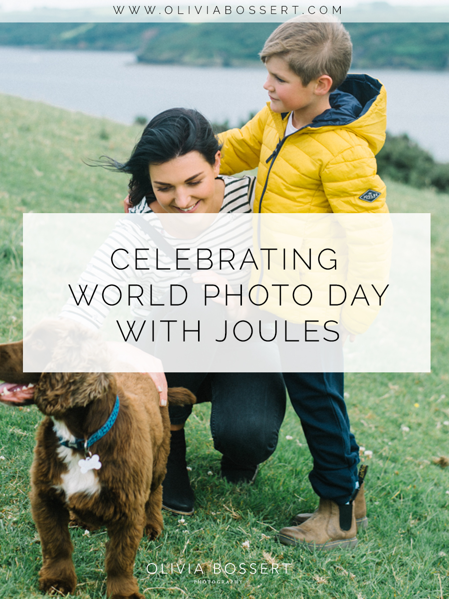 Celebrating World Photo Day with Joules // www.oliviabossert.com// fashion photoshoot, cornwall, editorial, content creation, joules clothing, childrens fashion, dog
