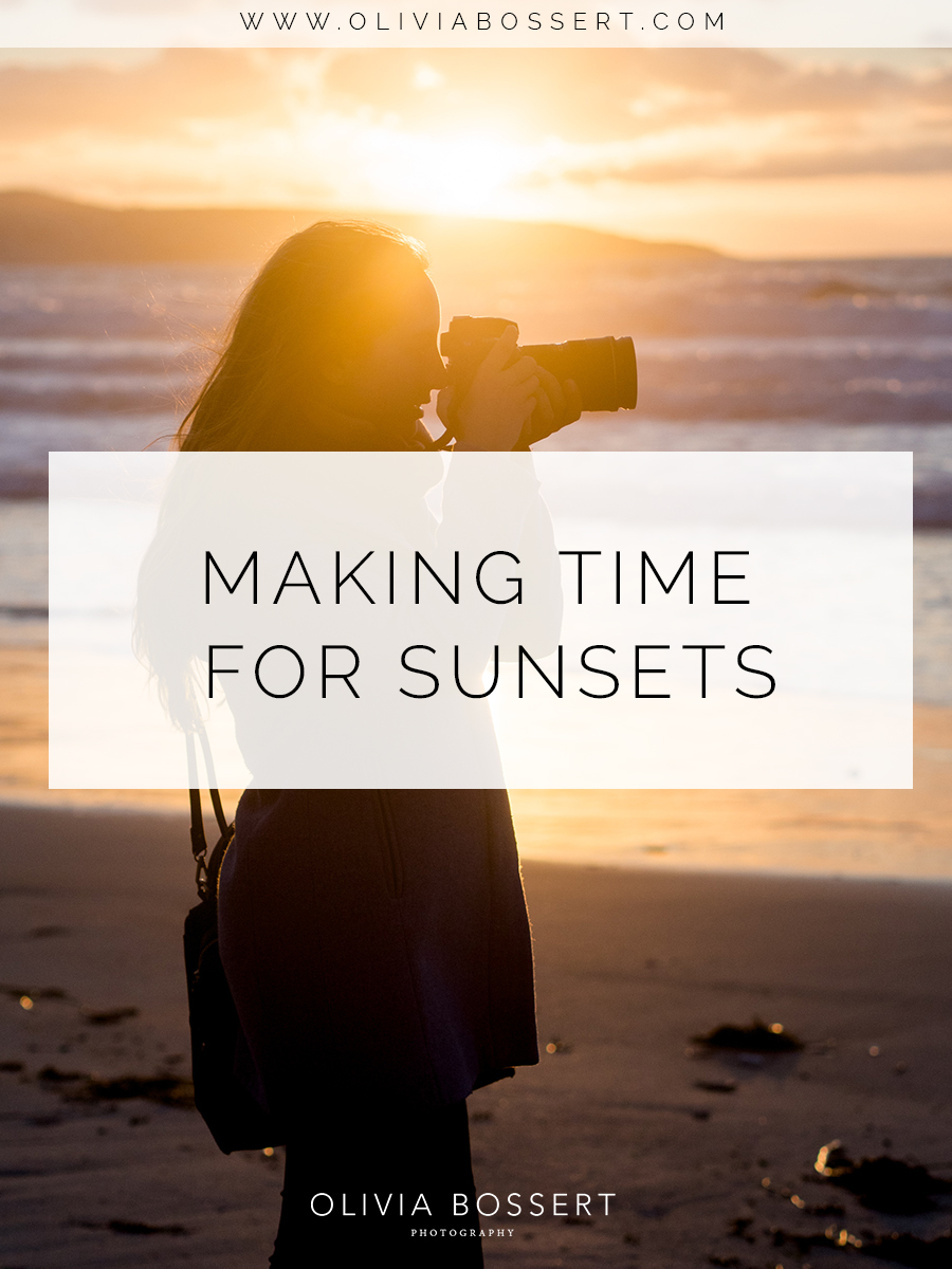 Making Time For Sunsets // www.oliviabossert.com // sunsets, photoshoots, cornwall, gwithian, getting creative, slow living