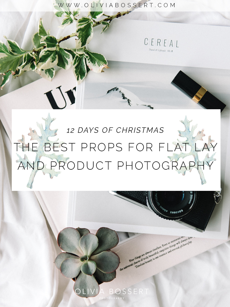 The Best Props For Flat Lays And Product Photography // 12 Days Of Christmas Series // www.oliviabossert.com // photography tips, business tips, self employed tips, flat lay, props, cornwall, cornwall blogger, christmas blog post
