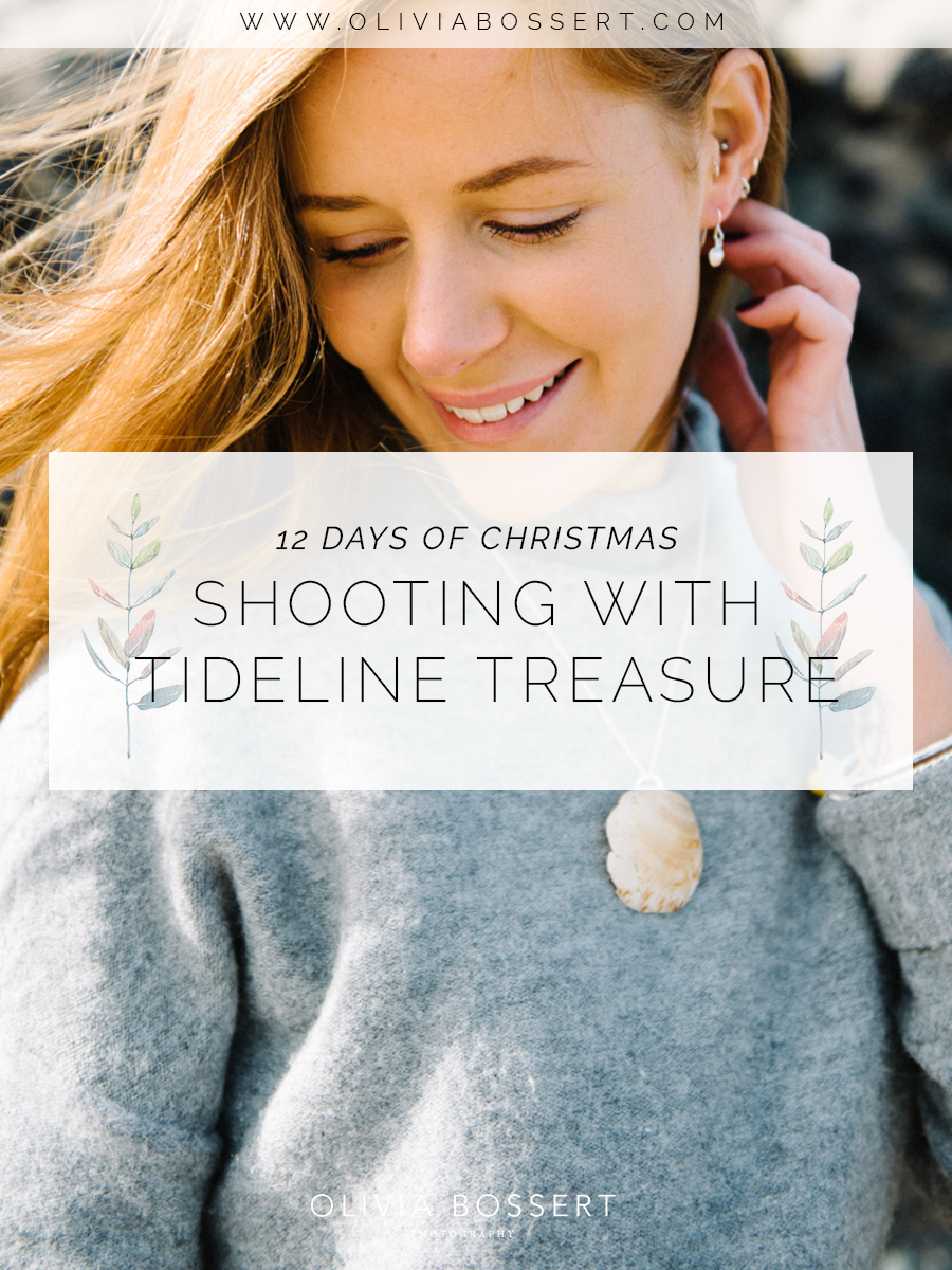 Shooting With Tideline Treasure // 12 Days of Christmas // www.oliviabossert.com // lookbook, cornwall, seaglass, cornish business, photography, small business, editorial photography, content creation