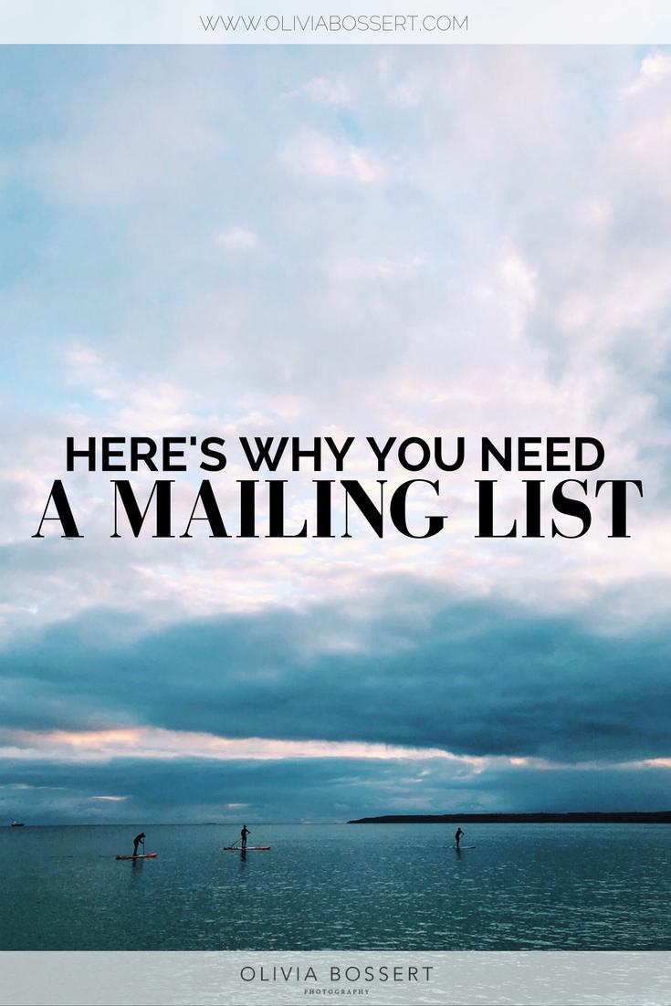 Here's Why You Need A Mailing List // www.oliviabossert.com // #mailinglist #emaillist #instragram #businesstips #marketingtips #onlinemarketing #email #instagramtips #bloggingtips