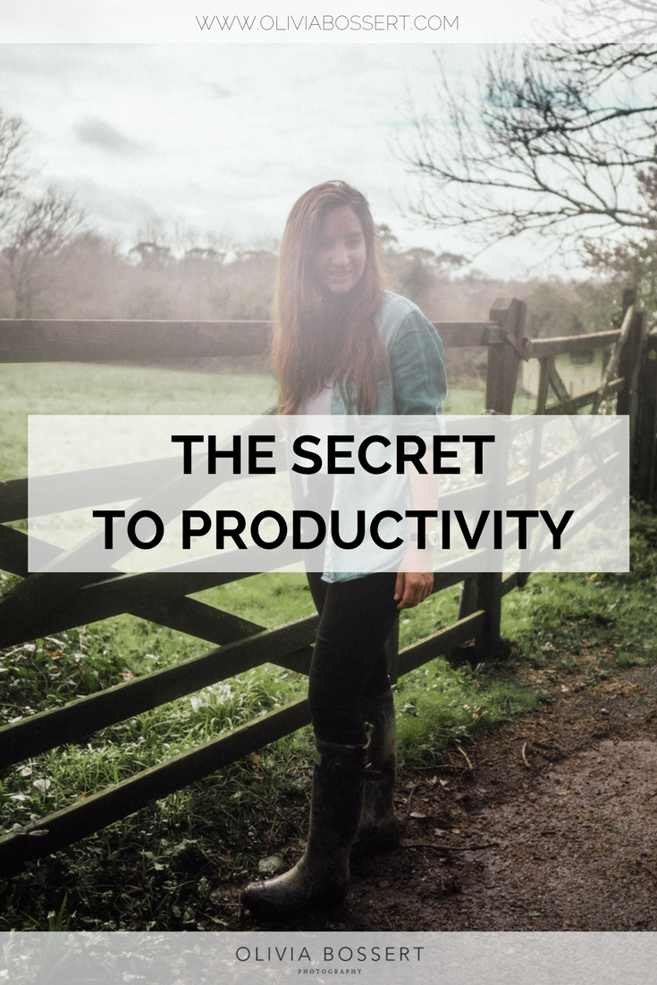 The Secret To Productivity // www.oliviabossert.com // being productive, life hacks, productivity hacks, being productive, business, working from home, getting outside, slow living, taking breaks, the work day, structure #business #workfromhome #productivity