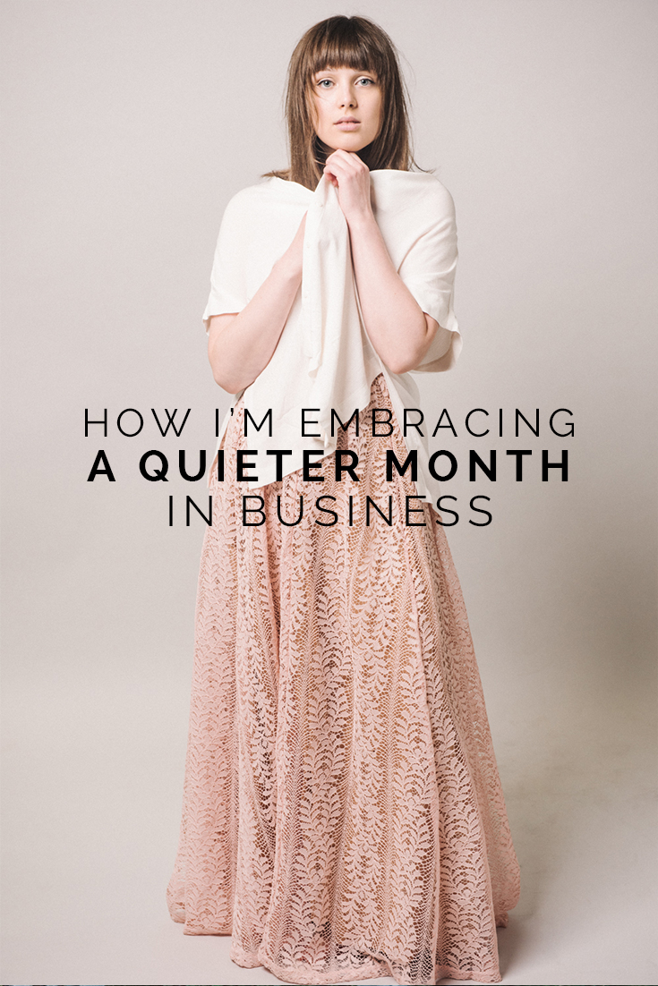 How I'm Embracing A Quiet Month In Business // www.oliviabossert.com // business tips, photography tips, cornwall, studio photography, editorial photography, fashion photography, lighting, model, marketing, photography blog