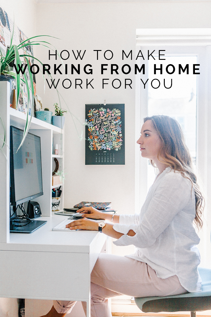 How To Make Working From Home Work For You // www.oliviabossert.com // business tips, working from home tips, solopreneur, female business owner, home, desk, work space, photographer, photography tips, marketing tips, social media tips