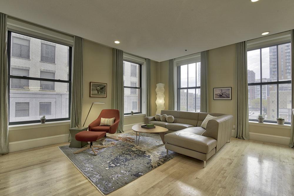 living room west loop condo