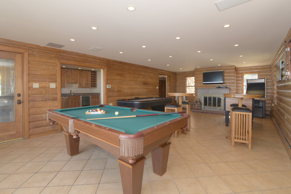 Game room at Lakefront property in Indiana Dunes.