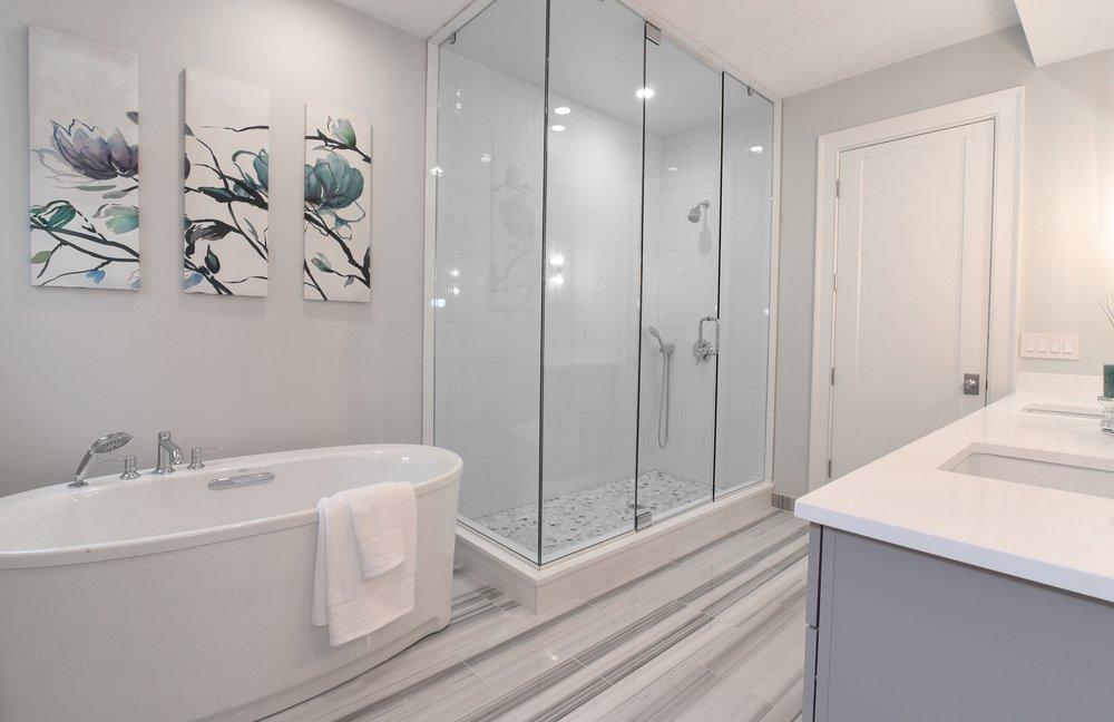 Single exposures for bathrooms often work well.