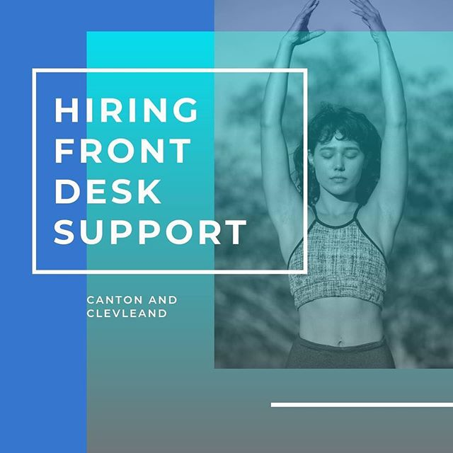 Do you love health and wellness? Want free yoga and barre classes? And make a little extra cash? Consider joining our front desk support team at Yoga Strong! We are hiring in both Canton and Cleveland! Looking for evening and weekend availability only - send your customer service resume to yogastrongstudio@gmail.com to apply!