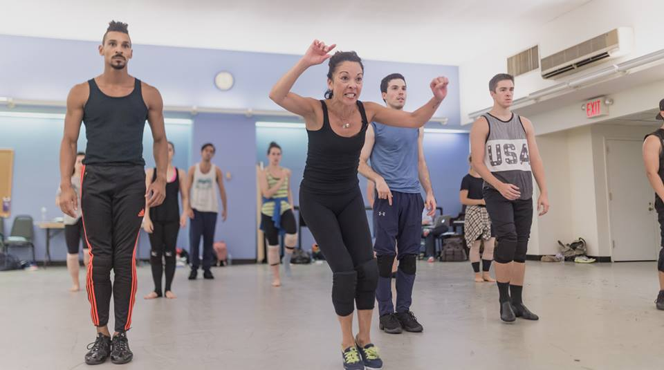 In rehearsal with JoAnn Hunter (Broadway Dance Lab)  Credit: Daniel Robinson