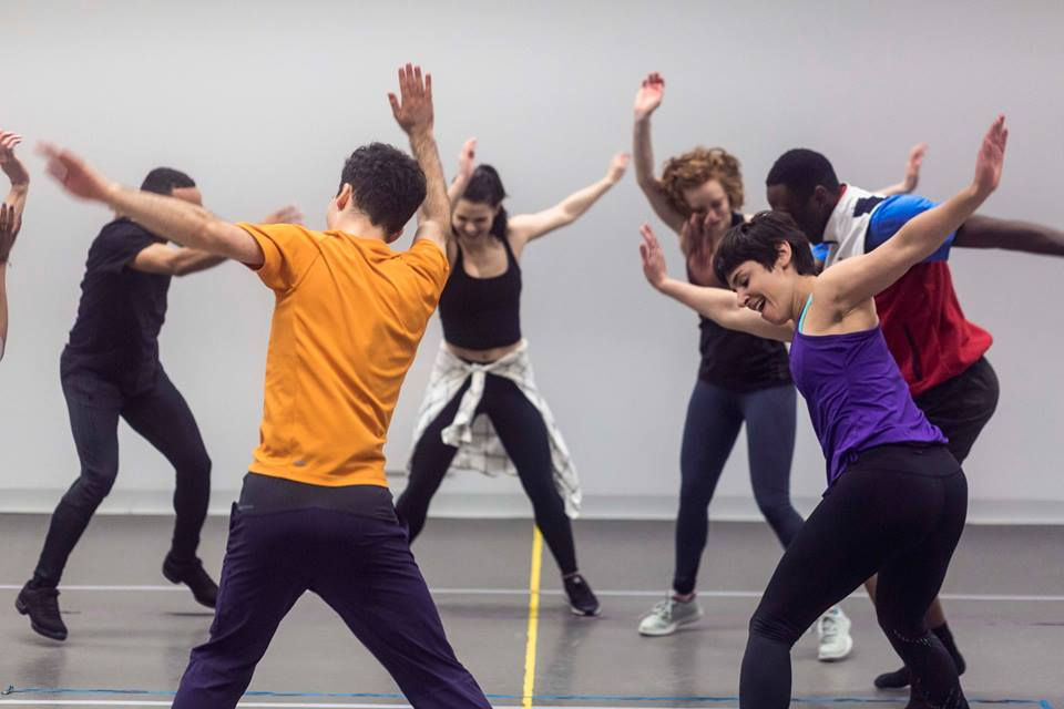 In rehearsal with Caleb Teicher (Broadway Dance Lab)  Credit: Daniel Robinson