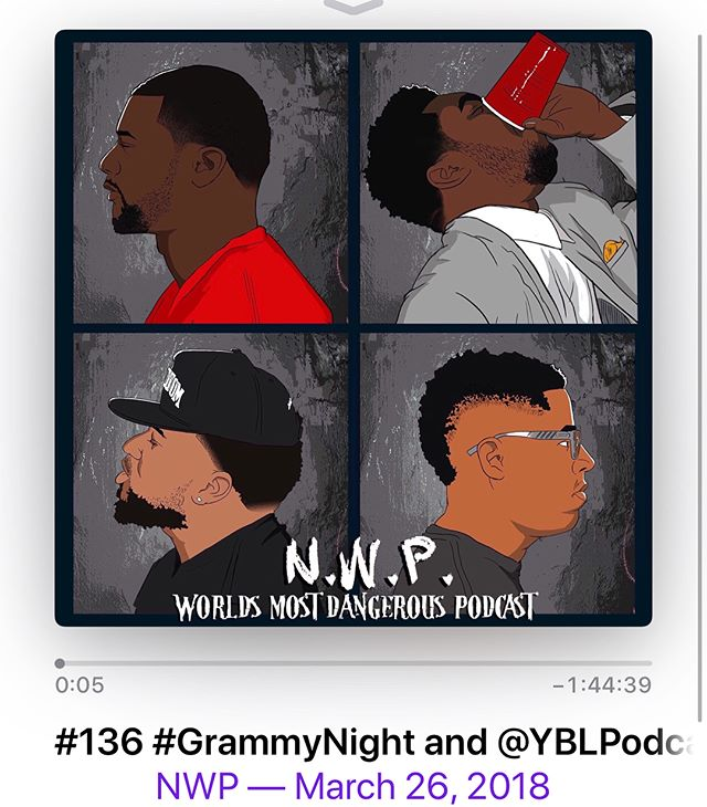 "NEWEPISODEALERT @nwppodcast  #Episode #136: ""Grammy Night & YBL Podcast "" Featuring @yblpodcast is up and moving on the #Wave.  Make sure you get your weekly dose of #IntelligentIgnorance by checking us out at:  #iTunes  #GooglePlay  #SoundCloud #Audiowavenetwork  Or at THISISNWP.com  Once again, #ITSFRIGHTENING, but you're safe because you're #RockingWithTheBest  #WeLoveYourShares  #WeLoveYourLikes  #WeLoveYourListens  #WeLoveYourFaces  #PeaceAndLove"
