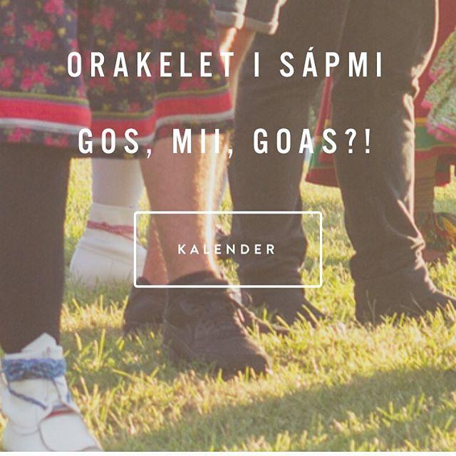 Sápmis orakler har hatt pause fra orakelrollen i sommer, da festivalarrangeringen tok alle våre samiske halvtimer. Nå er vi tilbake, og nettsiden er oppdatert. Vet du om noe som ikke vi vet om? Send oss et røyksignal (på internett). Ráfi olggos! #miigeavvá