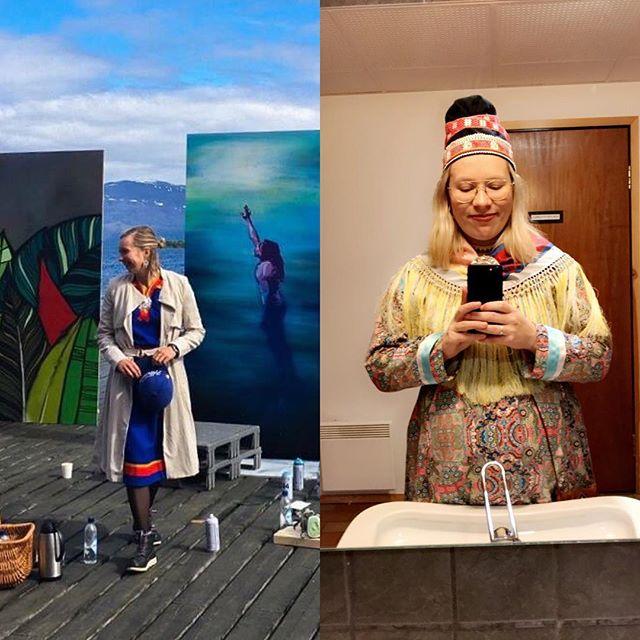 Når vi startet #miigeavvá i januar hadde vi så god tid til å være Sápmis største sladrekjerringer. Siden da har hun til venstre blitt produsent for @markomeannu og hun til høyre har blitt gravid (og fått seg fast jobb som grafiker). Nylig har vi måtte gi slipp på vår faste spalte i #sámimagasiidna pga. div. festival- og graviddeadliner. MEN LISTEN UP PPL. Vi kommer tilbake! Kanskje snart 😏