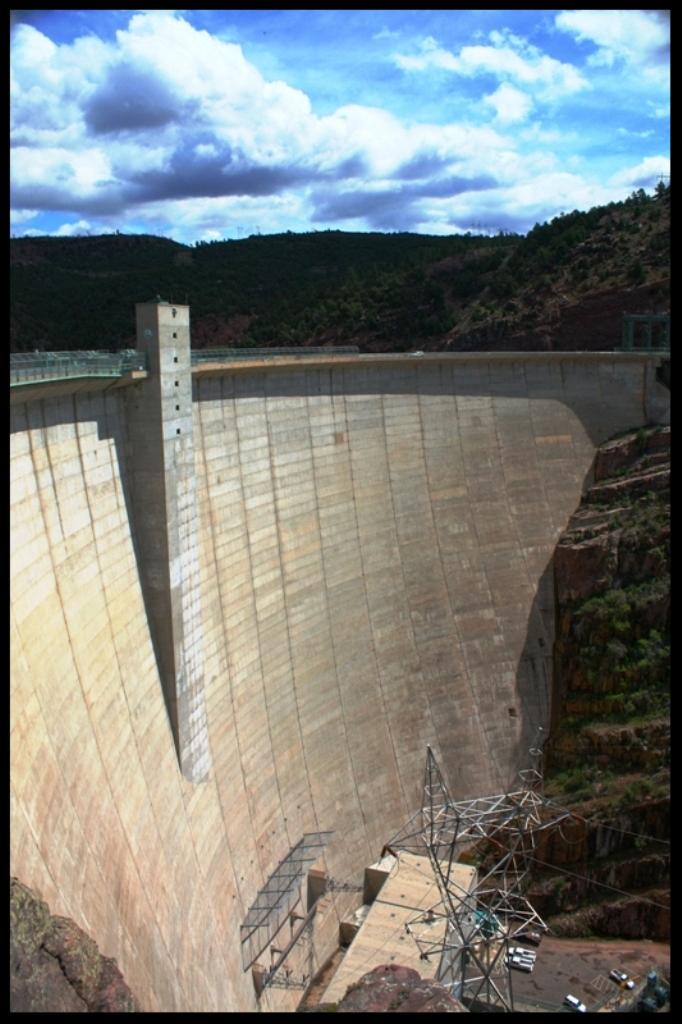 Flaming Gorge Dam, near Green River, WY